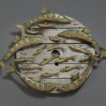 Stephen Henderson Barracuda and Baitfish 40 x 40 inches