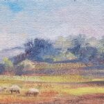 Ann WitheridgeLancashire Sheepoil on board10 x 4 inches