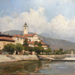 Marc Dalessio Feriolo Lago Maggiore oil on panel 10 x 14 inches