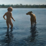 Georgina BarclayBoy and his Dogoil on canvas26 x 26 inches