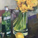 Bella MartineauDaffodils and Ginoil on board12 x 9 inches