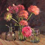 Haidee-Jo SummersLast of the Ranunculusoil on canvas16 x 16 inches