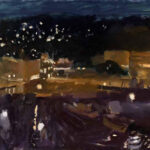 Annabel GaultHarbour at Night (Prussian Blue Sky)oil on paper41 x 61 inches