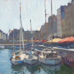Marc DalessioBoats in the HarbourHonfleur oil on panel10 x 14 inches